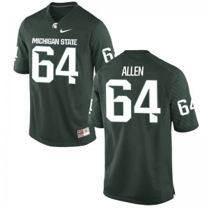 Matt Allen Jerseys Mens XXXL For Men Michigan State Spartans Green Limited