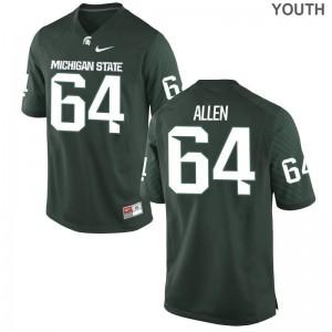 S-XL Spartans Matt Allen Jersey Youth Limited Green Jersey