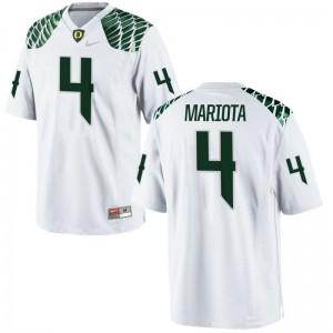 Youth(Kids) Matt Mariota Jersey Embroidery White Limited Oregon Ducks Jersey