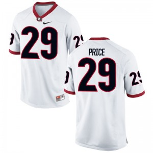Matt Price UGA Jerseys Large Limited Youth - White