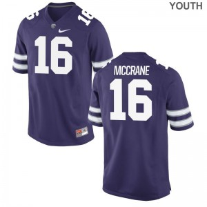 Limited Matthew McCrane Jerseys S-XL Kansas State University For Kids - Purple