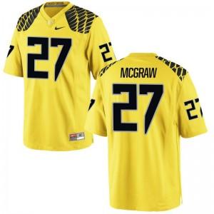 Oregon Ducks Mattrell McGraw Jersey Mens Large Gold Men Limited