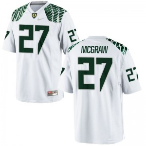 Mattrell McGraw Men White Jerseys XL Limited Oregon Ducks