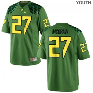Oregon Mattrell McGraw Jersey University Youth Limited Apple Green Jersey