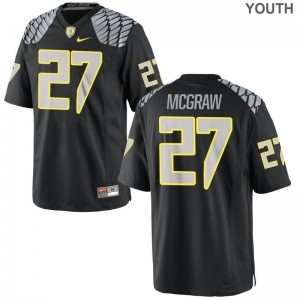 Mattrell McGraw Oregon Ducks Jerseys For Kids Limited Black Embroidery