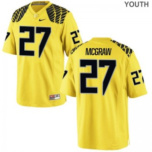 Ducks Gold For Kids Limited Mattrell McGraw Jersey Youth Small