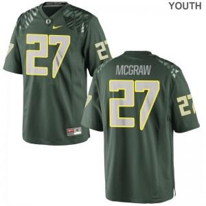 University of Oregon Jerseys Youth Medium Mattrell McGraw Limited Kids - Green