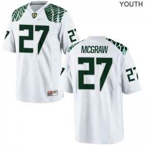 Ducks Mattrell McGraw Jersey Youth X Large Limited White Youth(Kids)