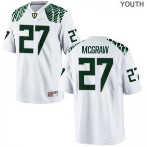 Ducks Limited Mattrell McGraw Youth(Kids) Jersey Medium - White