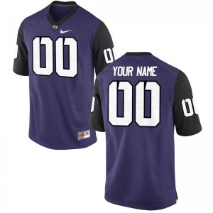 Texas Christian Custom Jersey Men XXXL Limited For Men - Purple