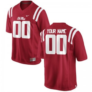 Mens Custom Jersey Men Small Limited Ole Miss Rebels - Red