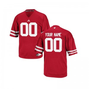 University of Wisconsin Custom Jerseys S-3XL Men Red Limited