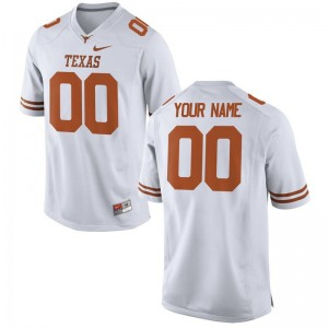 University of Texas Customized Jersey S-3XL Men Limited White