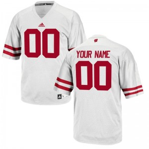 Customized Jersey Men UW White Limited