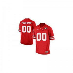 Ohio State Custom Jerseys Large Limited For Men Custom Jerseys Large - Red 2015 Patch