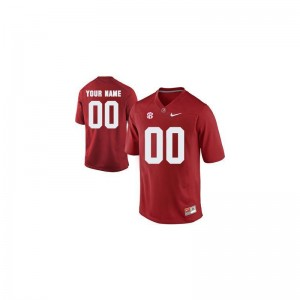 Bama Custom Jerseys Limited Mens Red