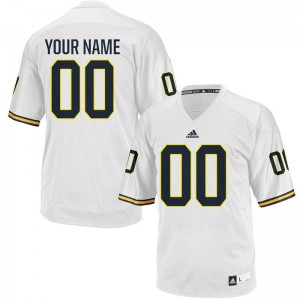 Customized Jerseys Michigan White Limited Mens Customized Jerseys