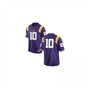 LSU Anthony Jennings Jerseys Men Limited #10 Purple Jerseys