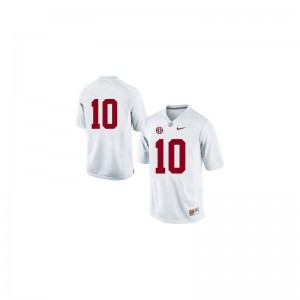 AJ McCarron For Men Bama Jerseys #10 White Limited Player Jerseys