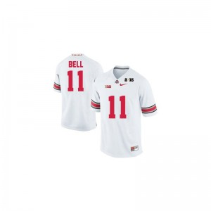 Limited #11 White Diamond Quest 2015 Patch Vonn Bell Jerseys XXX Large For Men Ohio State