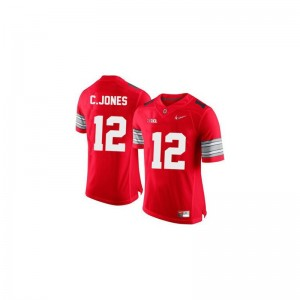 Cardale Jones Limited Jerseys For Men Official OSU #12 Red Diamond Quest Patch Jerseys