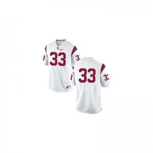 Marcus Allen Trojans Jerseys Medium Limited #33 White Men
