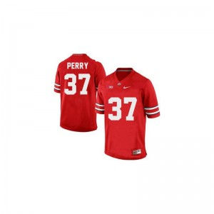 Men Joshua Perry Jersey Mens Medium Ohio State #37 Red Limited