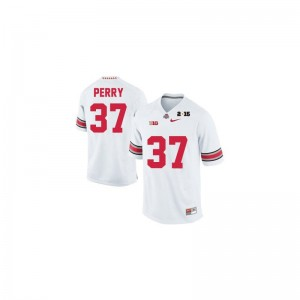 Joshua Perry For Men Jersey Men Large Limited Ohio State Buckeyes - #37 White Diamond Quest 2015 Patch