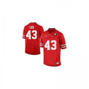 Ohio State Darron Lee Jerseys Stitch Men Limited #43 Red Diamond Quest 2015 Patch Jerseys