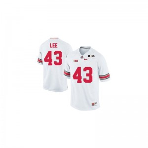 Ohio State Darron Lee For Men Limited Jerseys 3XL - #43 White Diamond Quest 2015 Patch