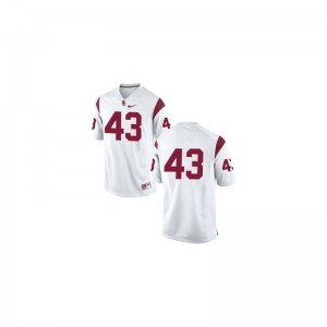 USC Troy Polamalu Limited Jersey #43 White Men