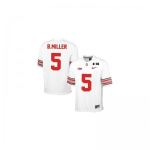 Braxton Miller Jersey Ohio State Buckeyes For Men Limited - #5 White Diamond Quest 2015 Patch