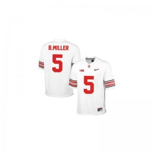 Ohio State Mens Limited #5 White Diamond Quest Patch Braxton Miller Jerseys XXXL