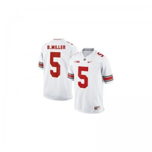 Braxton Miller For Men Jerseys XXX Large Ohio State Buckeyes Limited #5 White