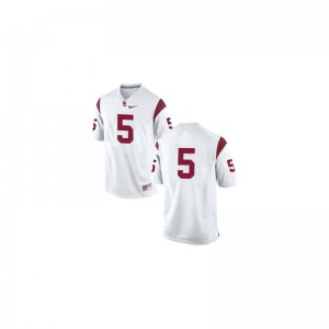 Trojans Reggie Bush Limited Jerseys #5 White Men