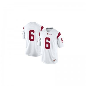 Cody Kessler Mens Trojans Jerseys #6 White Limited Stitch Jerseys