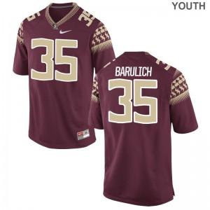 Michael Barulich Florida State Seminoles Jersey Medium Garnet Kids Limited