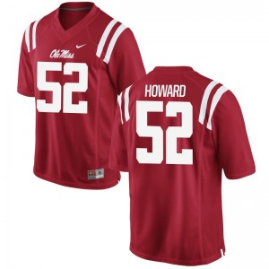 Limited Michael Howard Jerseys XXXL Ole Miss Rebels For Men - Red
