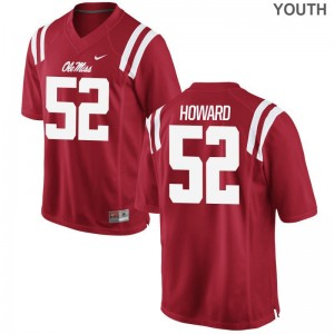 University of Mississippi Michael Howard Jerseys Youth XL Youth Red Limited