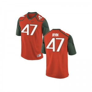 Miami Michael Irvin Limited For Men Embroidery Jersey - Orange_Green