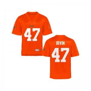Michael Irvin Hurricanes Jerseys For Kids Limited Orange Football