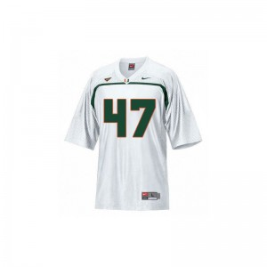 Small Miami Hurricanes Michael Irvin Jersey Youth Limited White Jersey