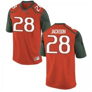 Michael Jackson Miami Hurricanes Jersey 3XL Orange Limited Mens