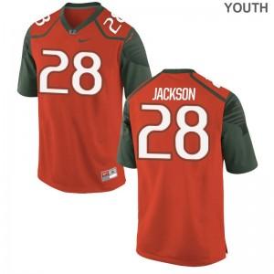 Limited Michael Jackson Jerseys Youth Large Miami Orange Youth(Kids)