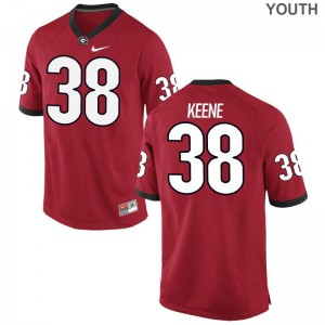 Georgia Bulldogs Michael Keene Limited For Kids Jerseys - Red