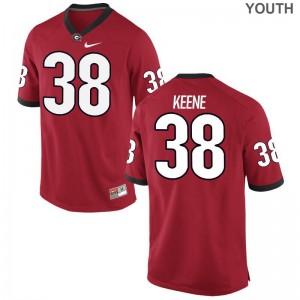 UGA Bulldogs Michael Keene Jersey Large Youth(Kids) Limited - Red