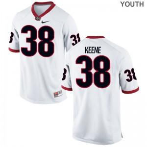 Kids Michael Keene Jersey Youth Medium Georgia Limited White