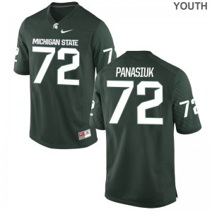 Limited Michigan State Mike Panasiuk For Kids Green Jersey Youth Large