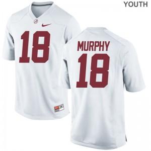Montana Murphy Youth(Kids) White Jersey Youth Medium Bama Limited