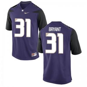 Myles Bryant UW Mens Jerseys Purple Limited Jerseys